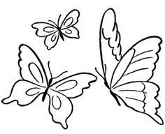 236x192 Flying Butterfly Outline Clip Art Nvsi