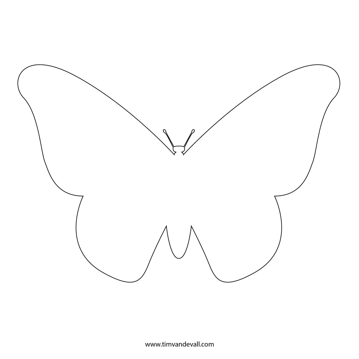 1500x1500 Outline Drawing Of Butterfly Best Ideas About Butterfly