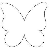 200x200 Papillon Clipart Cute Butterfly Outline