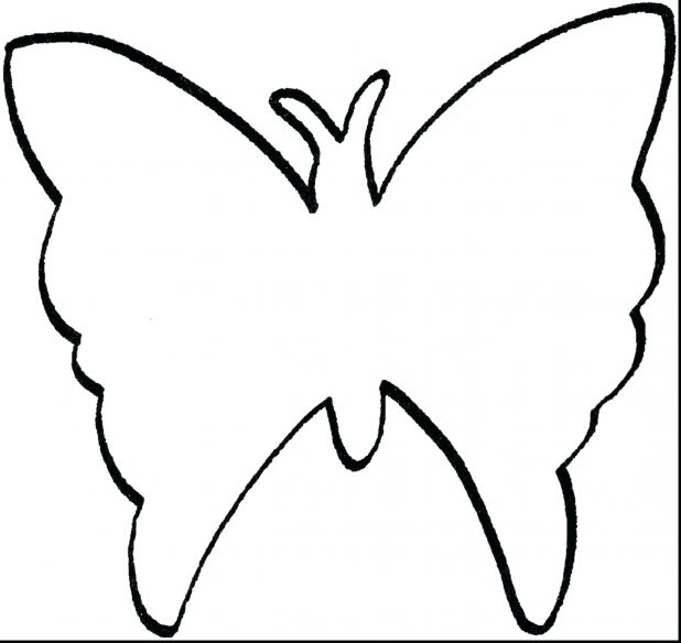 618x584 Pin Drawn Butterfly Wing 5 Clipart Outline Pictures Of Butterflies