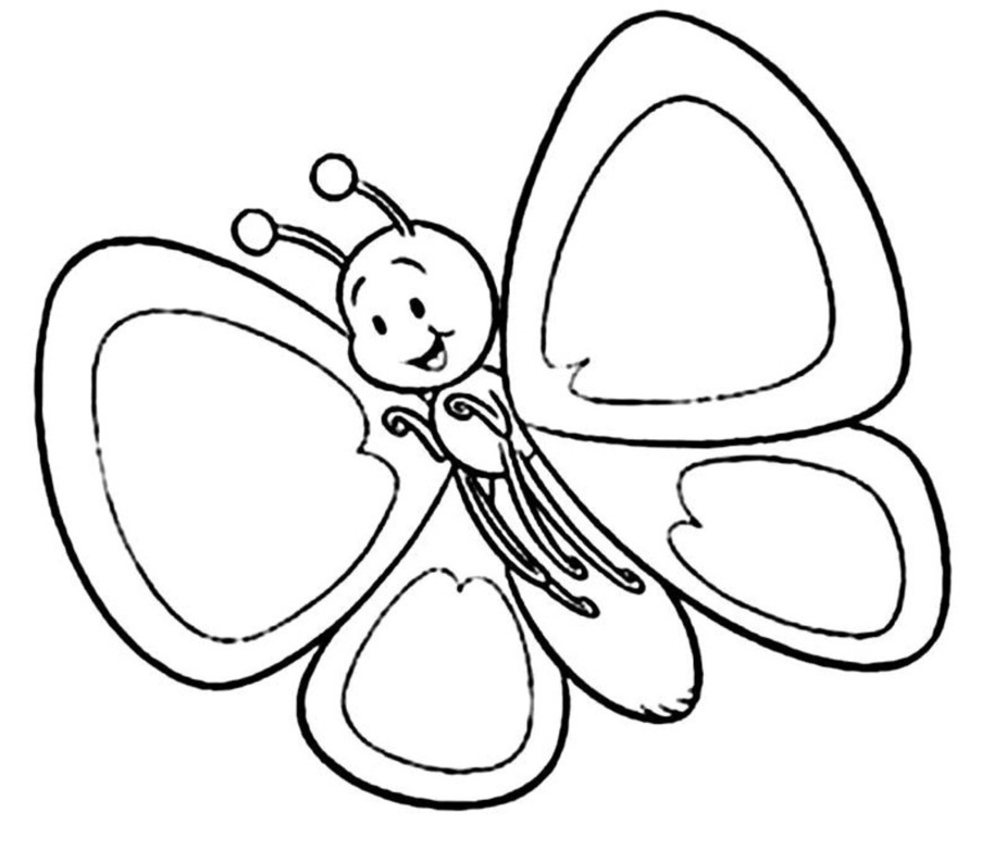 Butterfly outline cartoon. Free download best on