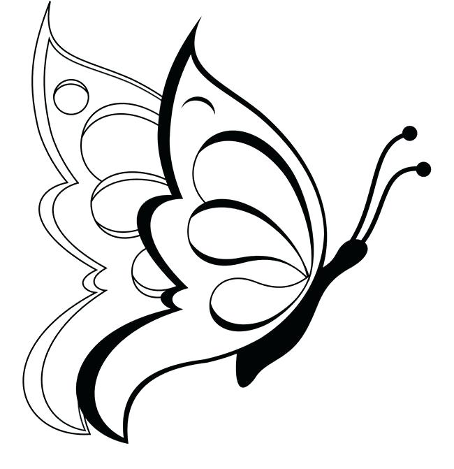 650x671 Great Amazing Printable Butterfly Outline Free Download Templates