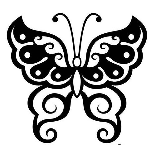 500x465 Best Butterfly Outline