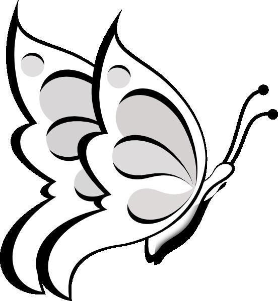 552x599 Butterfly Outline Clip Art Blank Butterfly Clip Art