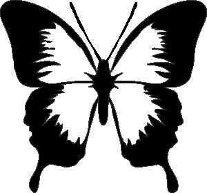 300x280 Butterfly Clip Art