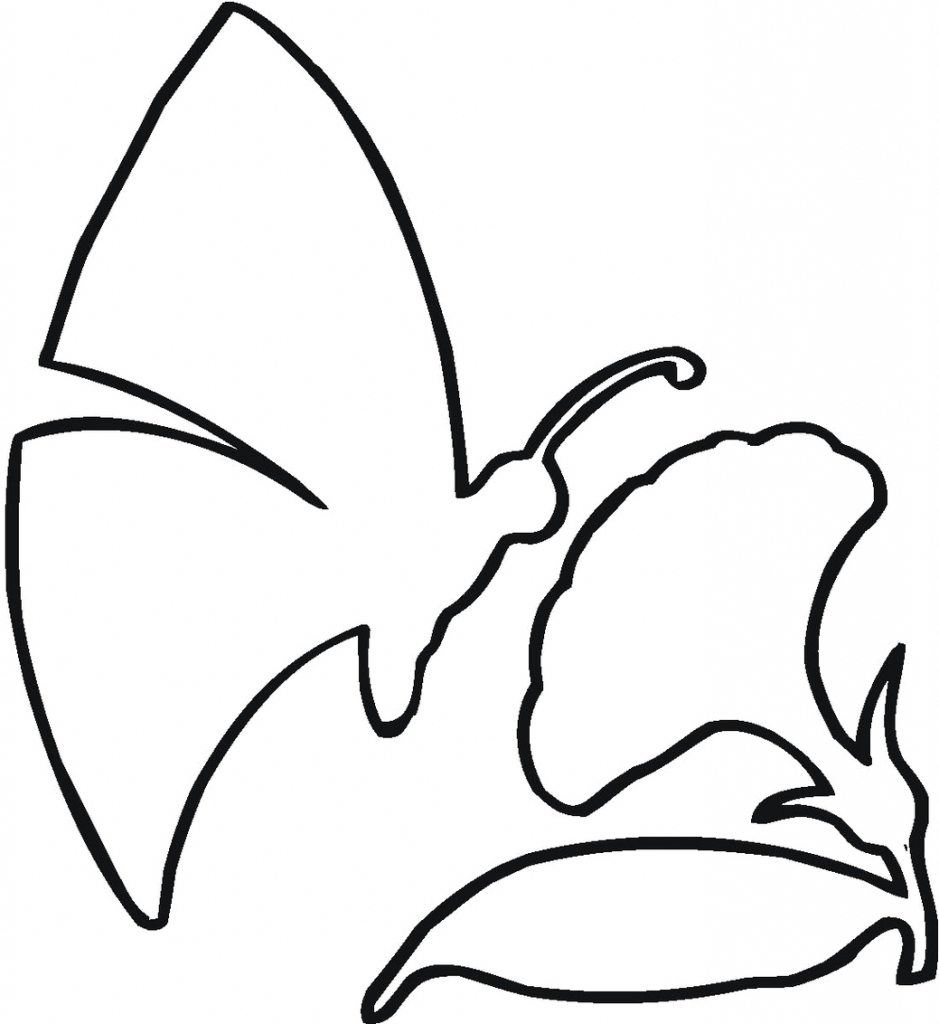 939x1024 Butterfly Drawing Outline Butterfly Outline Clipart Clipart Panda