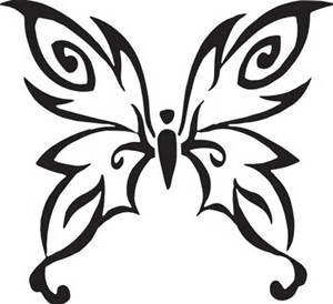 300x274 Butterfly Outline Clip Art