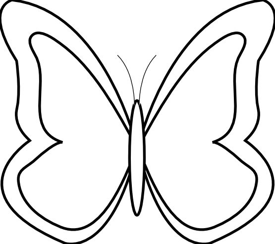 555x493 Butterfly Clipart Black And White