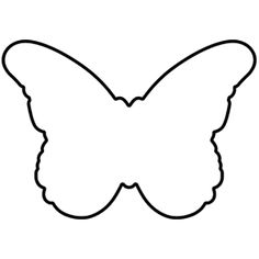 Butterfly outline side. Clipart free download best