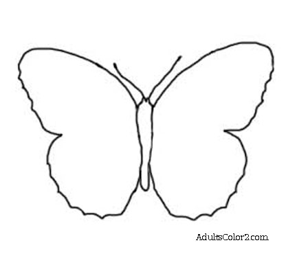 432x373 Butterfly Outline Or Silhouette Basic Butterfly Shapes