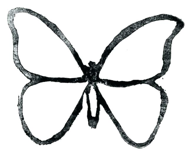 649x536 Butterfly Outline Printable Amazing Printable Butterfly Outline