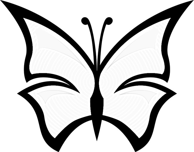 650x509 Butterfly outline butterfly templates printable crafts –