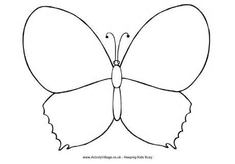 460x322 Butterfly outline coloring pages –