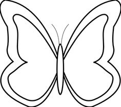 236x209 Black And White Butterfly Clipart