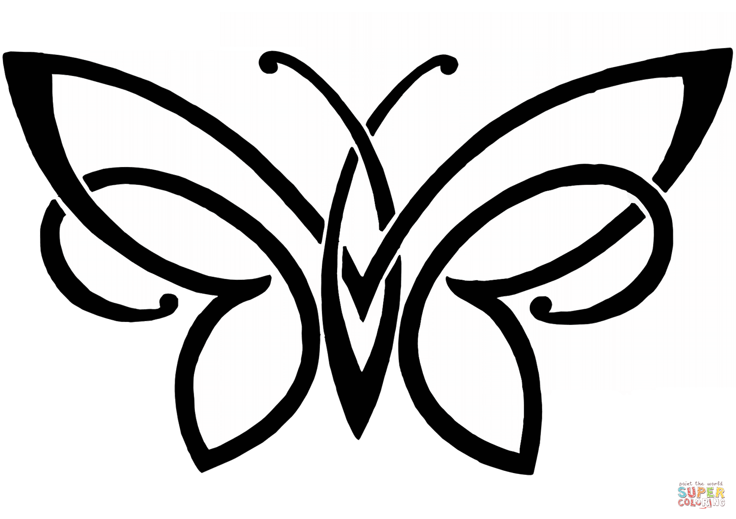 1500x1059 Butterfly Tattoo coloring page Free Printable Coloring Pages