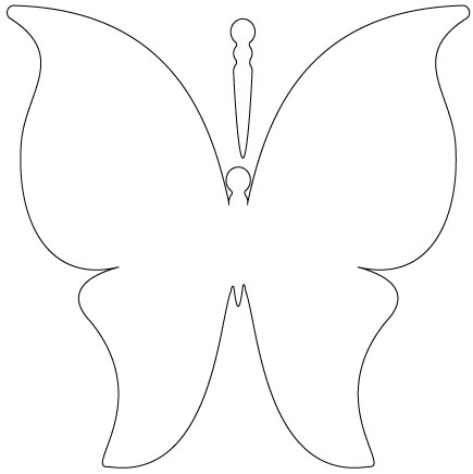 435x436 Butterfly outline 0 ideas about butterfly template on templates 2