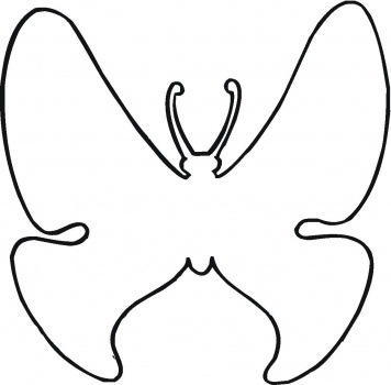 356x350 Butterfly Outline Clipart Free Images 9