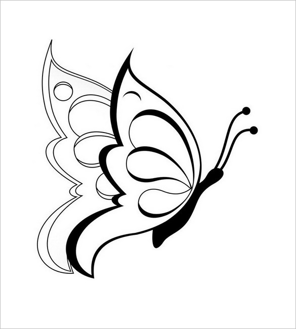 585x650 30+ Butterfly Templates – Printable Crafts amp Colouring Pages