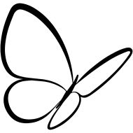 190x190 Best 25+ Butterfly outline ideas Felt butterfly