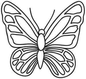 300x276 Best Photos Of Butterfly Outlines For Tracing