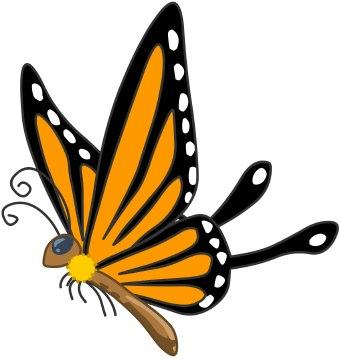 340x359 Butterfly Clip Art