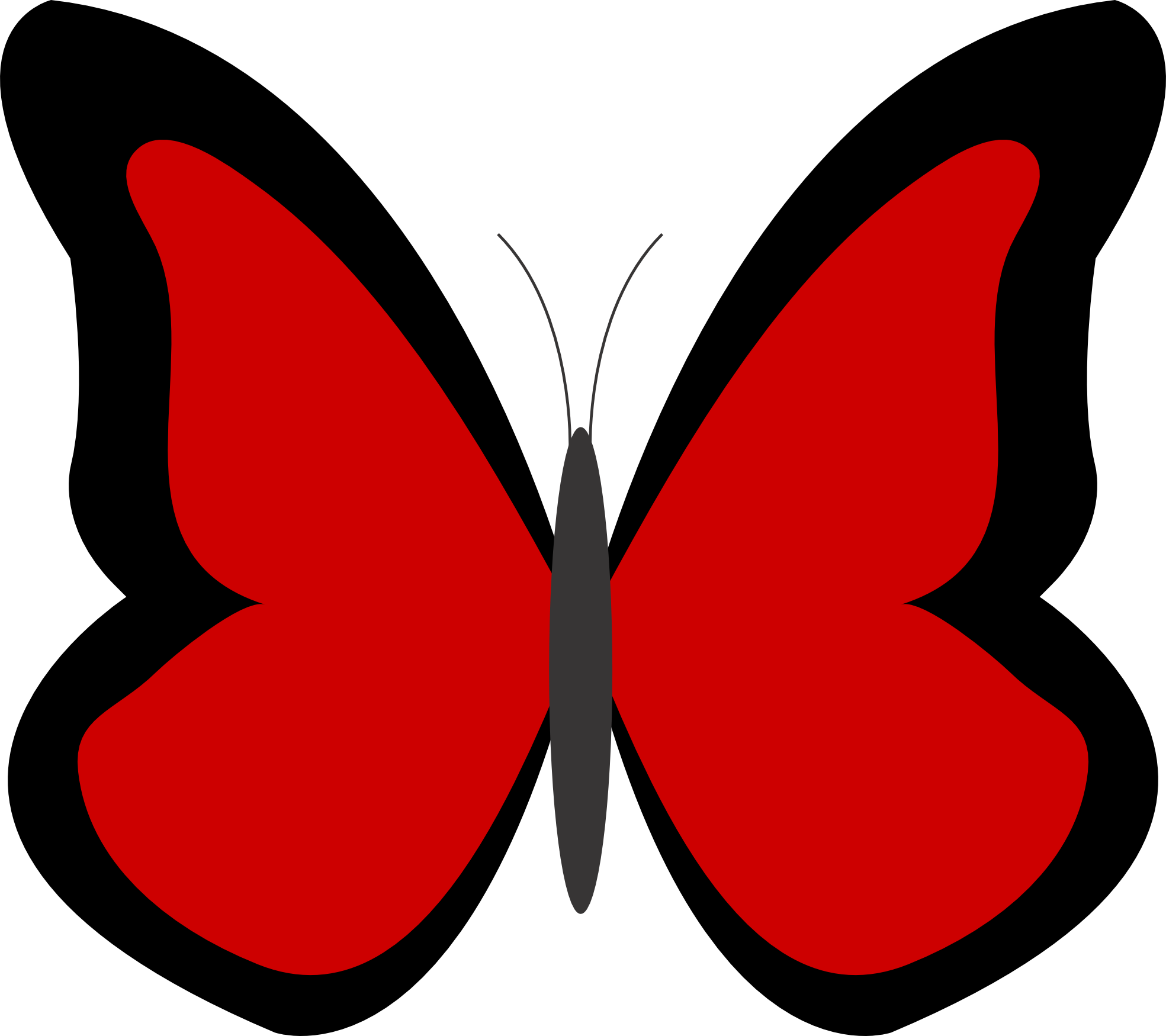 1969x1750 Butterfly Clipart Red