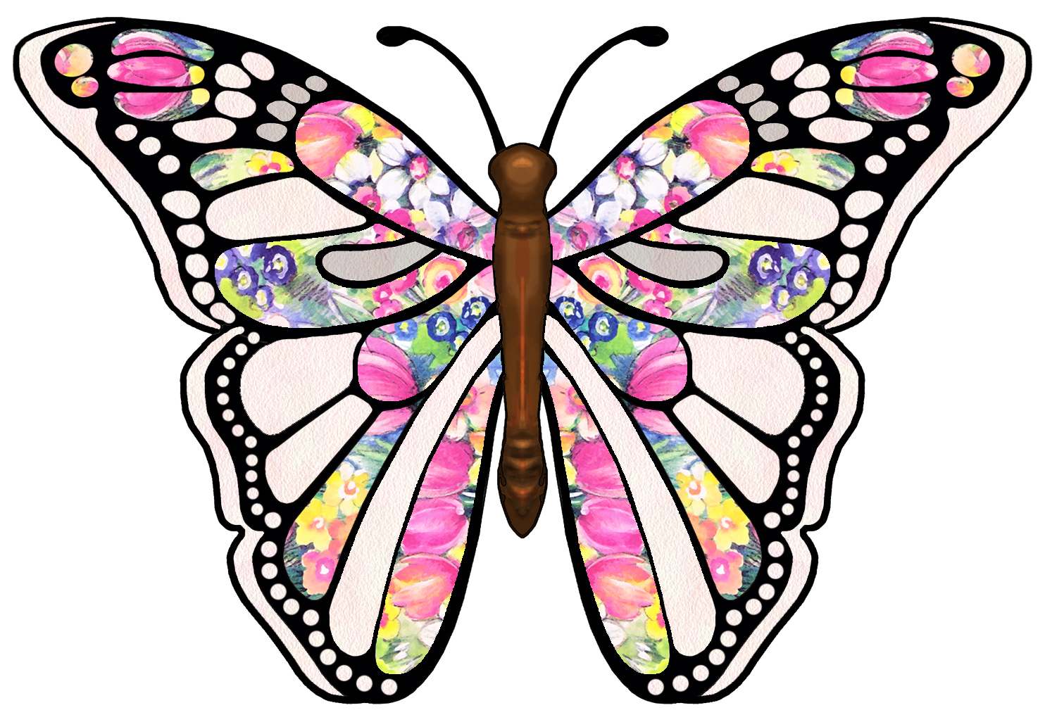 1484x1026 Clipart Butterfly Clip Art Free Borders Image 7 2