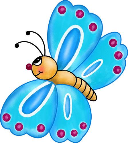 447x500 Clipart Images For April Butterflies