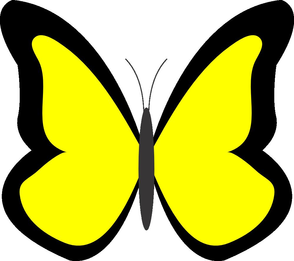 999x888 Yellow Butterfly Clip Art Clipart Panda