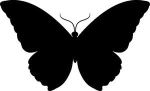 300x182 Butterfly Silhouette Clip Art