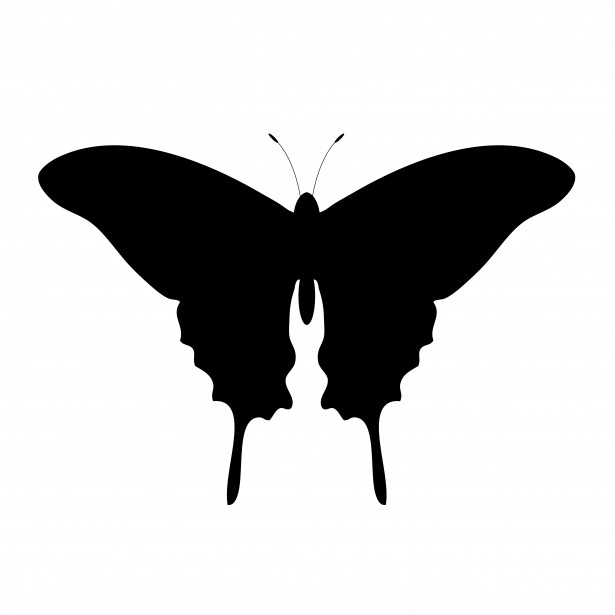 615x615 Butterfly Silhouette Clip Art