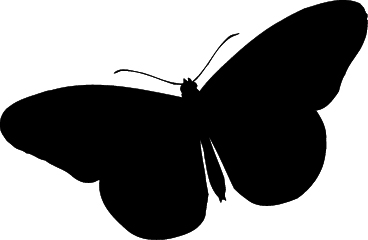 368x240 Butterfly Silhouette Clip Art Many Interesting Cliparts