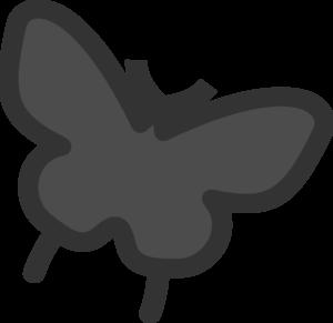 300x291 Butterfly Silhouette Clip Art