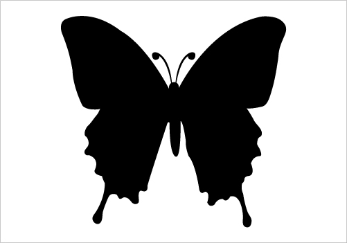 501x351 Butterfly Silhouette Vector Silhouette Graphics