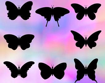 340x270 Butterfly Silhouette Etsy