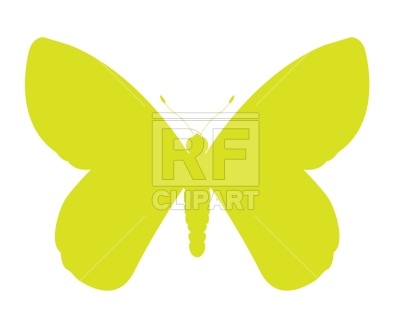 400x320 Butterfly Silhouette Free Vector Clip Art Image