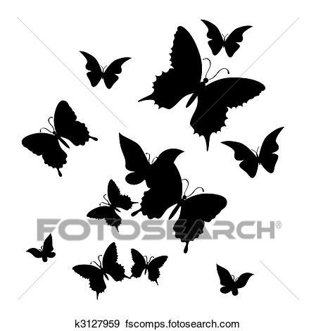449x470 Clip Art Of The Butterfly. Vector Illustration K3127959