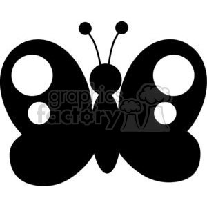 300x300 Royalty Free 4127 Black Butterfly Silhouette 382040 Vector Clip