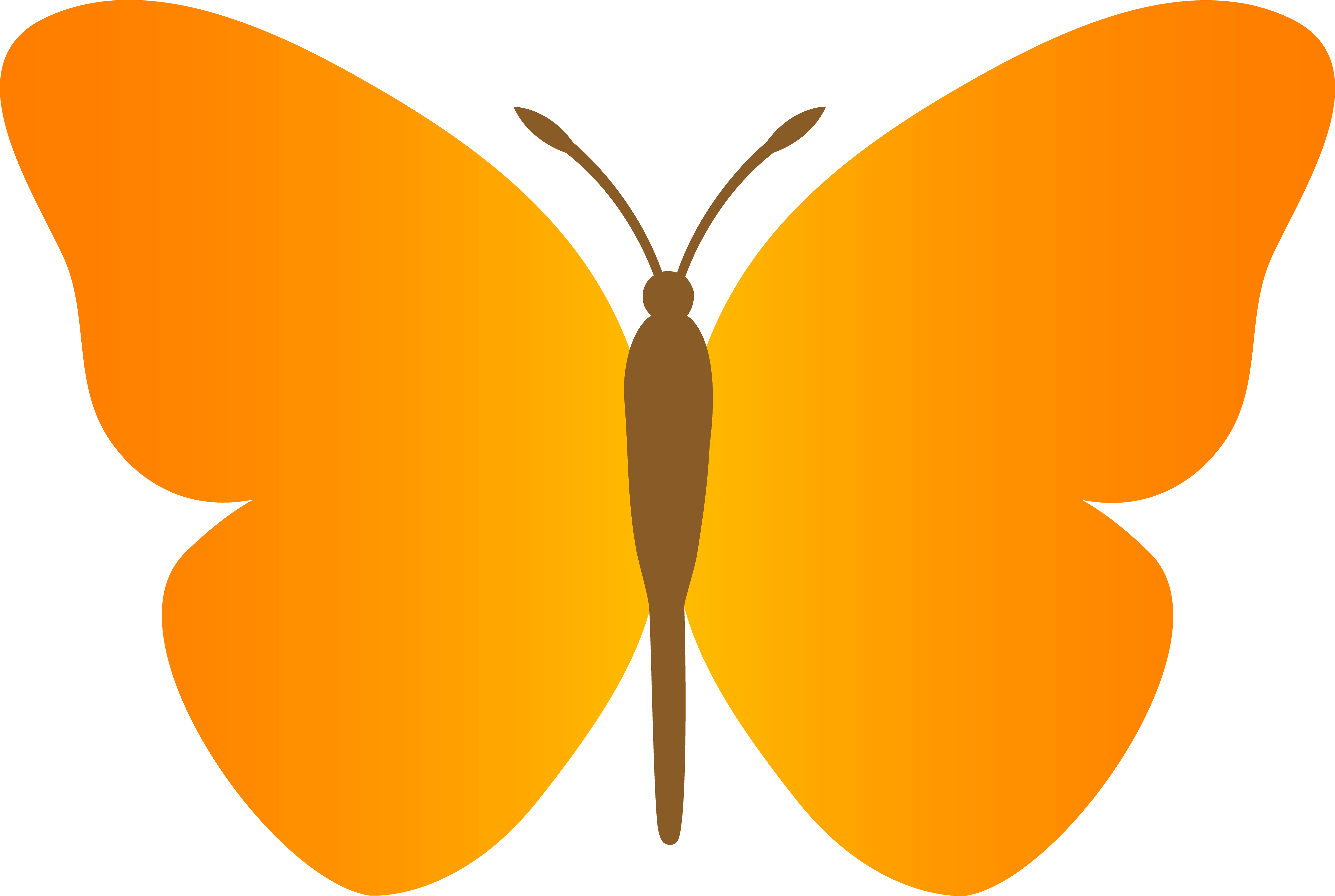 Butterfly Wing Outline | Free download best Butterfly Wing Outline ...