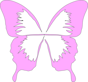 299x279 Butterfly Wings Clip Art