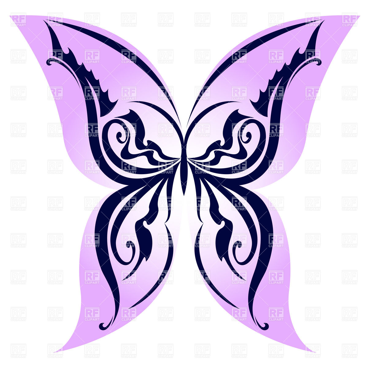 1200x1200 Butterfly With Tracery On Wings Royalty Free Vector Clip Art Image