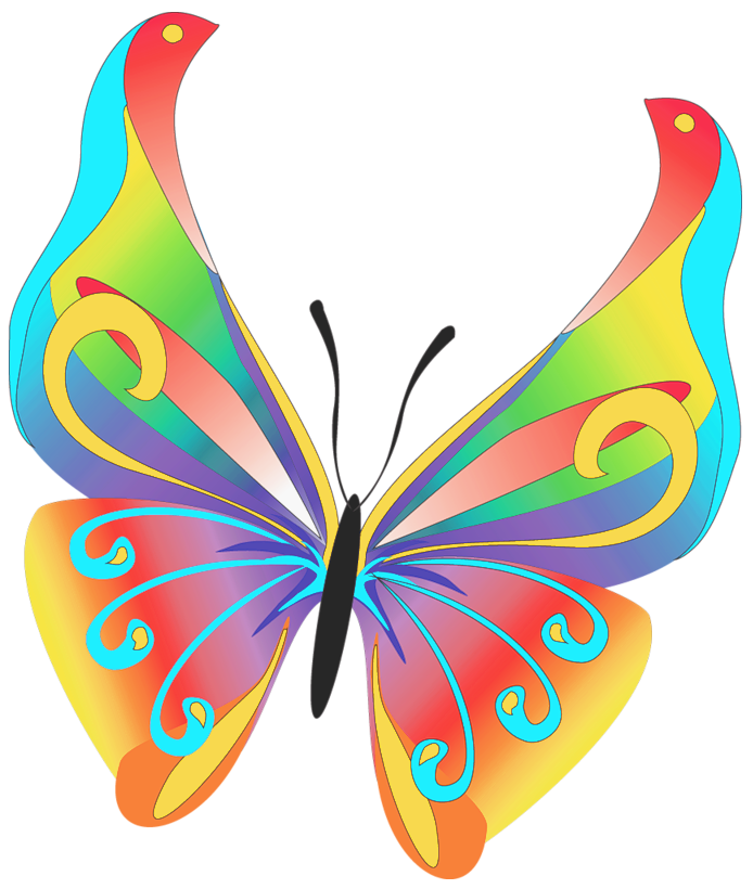 694x820 Clipart Butterfly