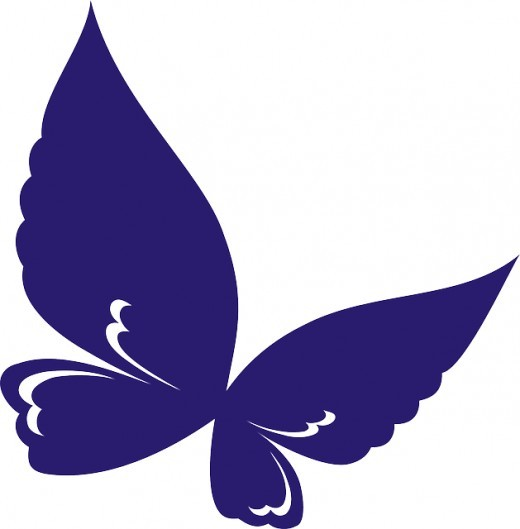 520x529 Clipart Purple Butterfly With Hearts On Wings