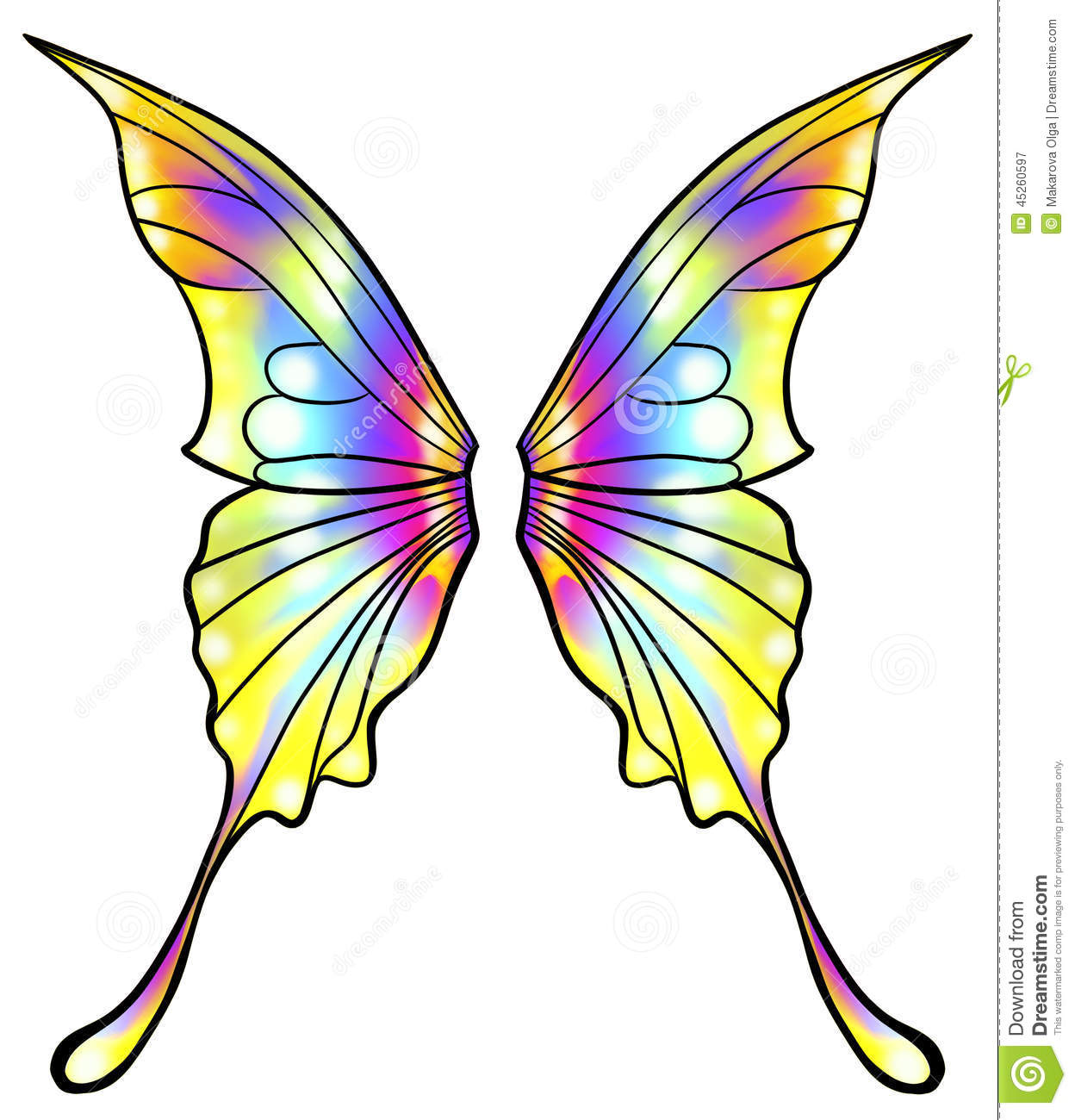 1248x1300 Colorful Clipart Butterfly Wing