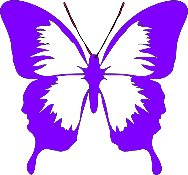 600x559 Purple Butterfly Wings Clip Art