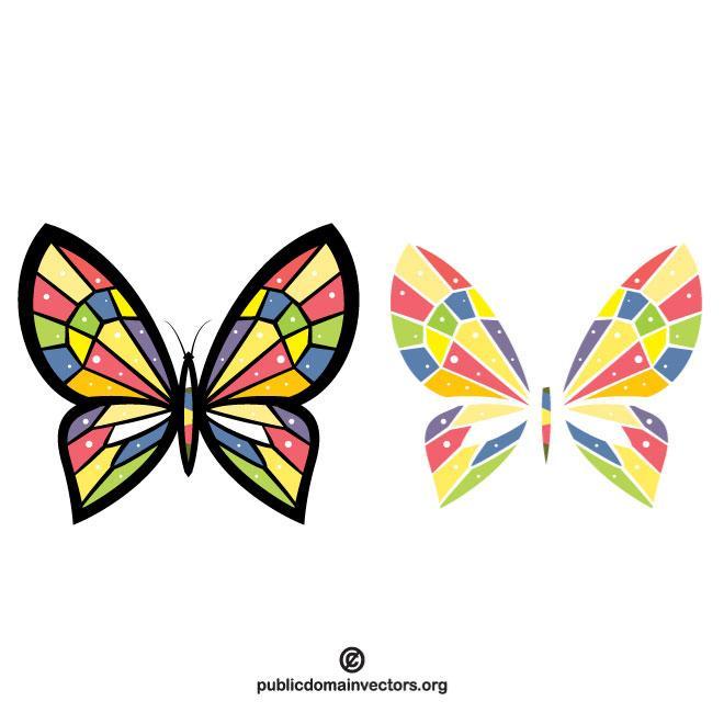 660x660 Butterfly Vector Clip Art Graphics