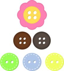 217x240 Button Clipart, Cute Button Clip Art, Png Buttons, Png Files