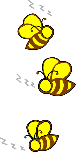 300x593 Free Buzzing Bee Clipart Image