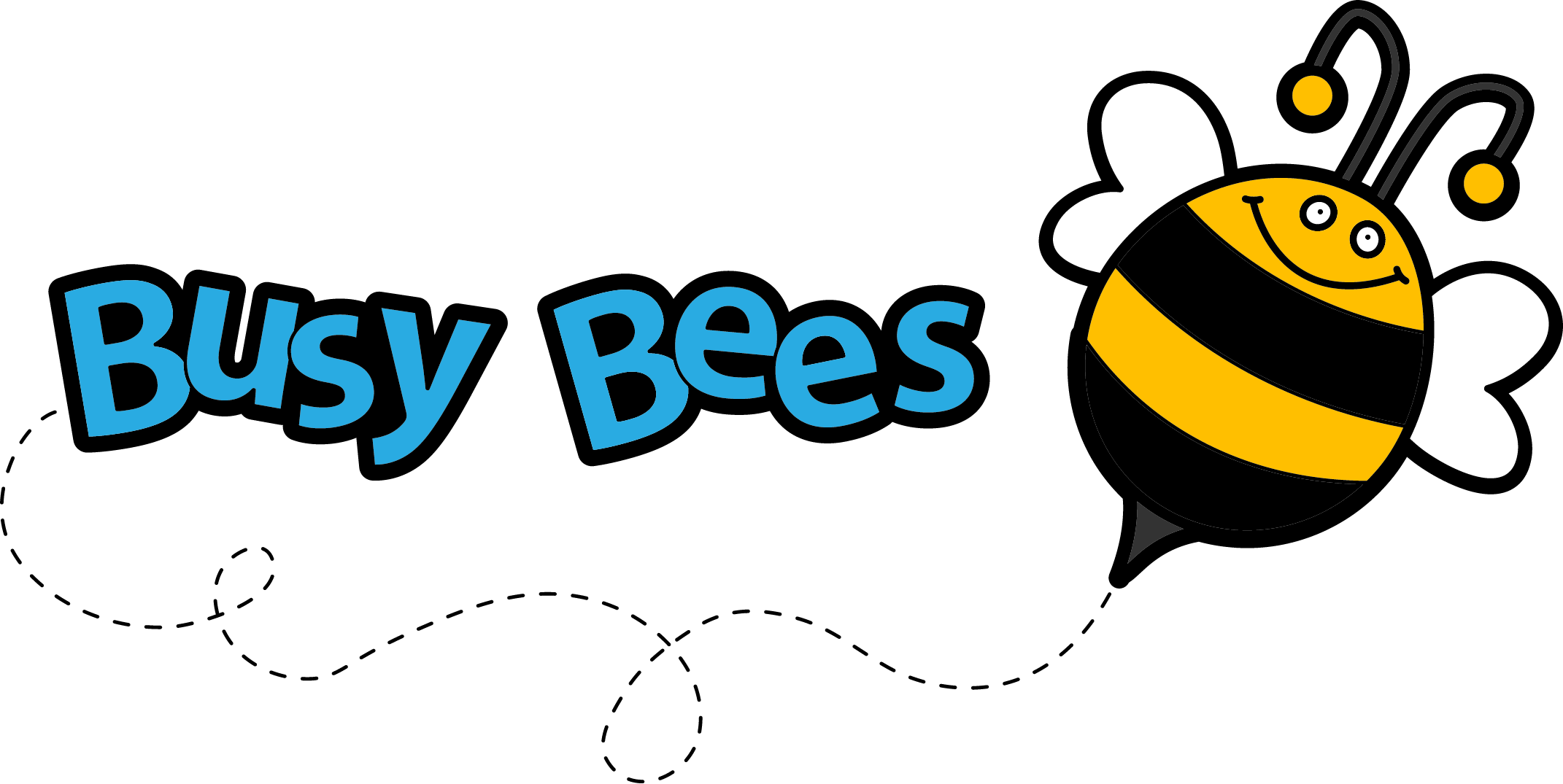 2142x1075 Free Buzzing Bee Clipart Image