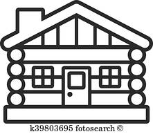 221x194 Log Cabin Clip Art Royalty Free. 342 Log Cabin Clipart Vector Eps